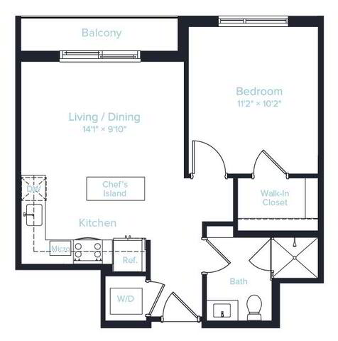 Floorplan Unit F layout