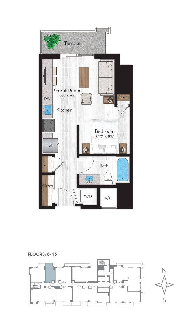 A 2D drawing of the S1 floor plan