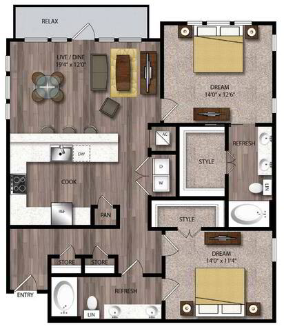 Floorplan B6.1 layout