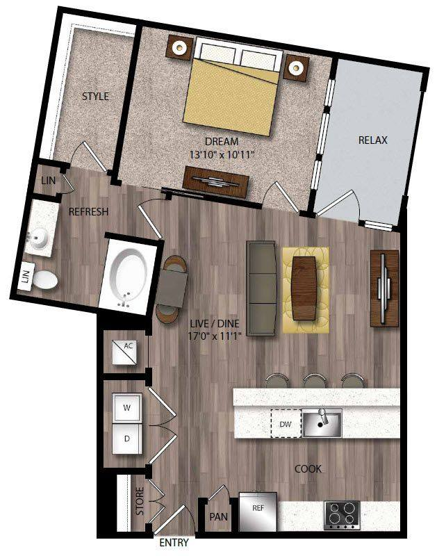 A 2D drawing of the A10.1 floor plan