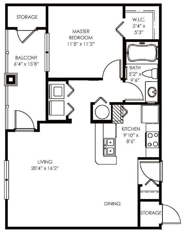 A 2D drawing of the Addison floor plan