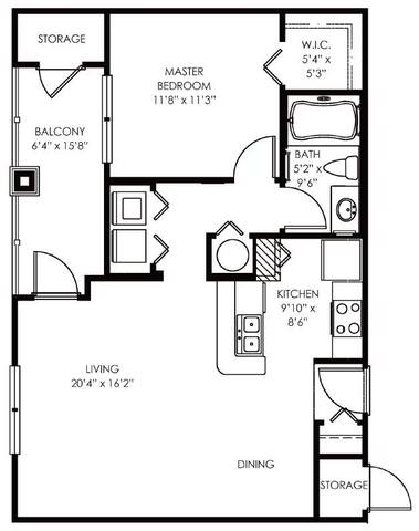 Floorplan Addison layout