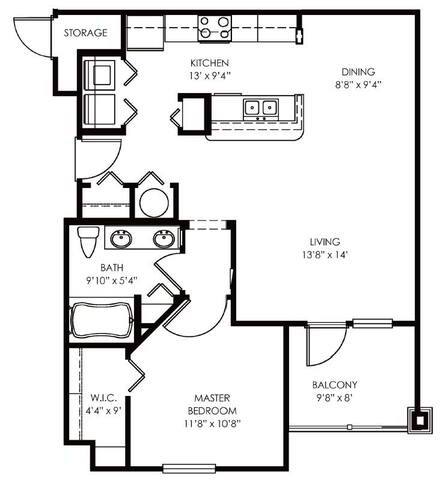 Floorplan Arlington layout