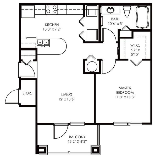 A 2D drawing of the Asprey floor plan