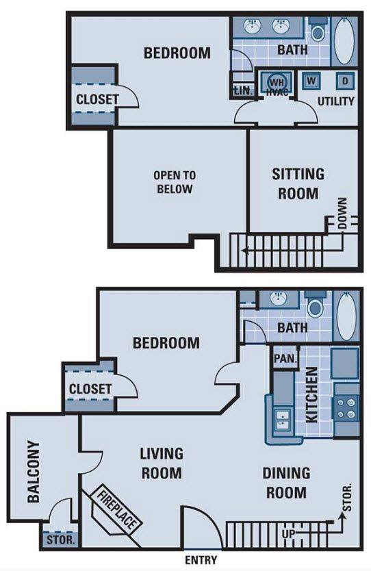 A 2D drawing of the B3 Renovated floor plan