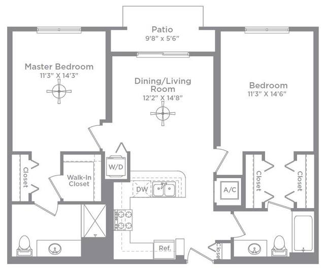 A 2D drawing of the Bordeaux 1A floor plan