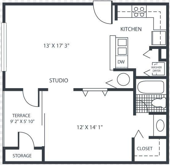 A 2D drawing of the Ivy floor plan