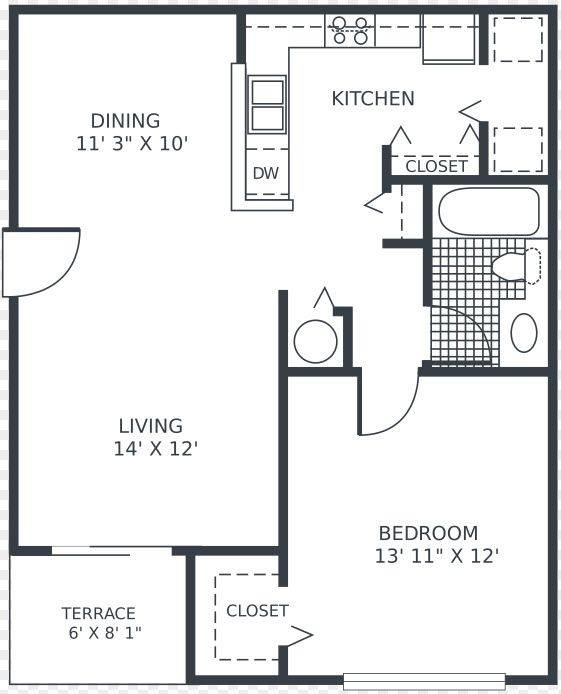 A 2D drawing of the Orchid floor plan