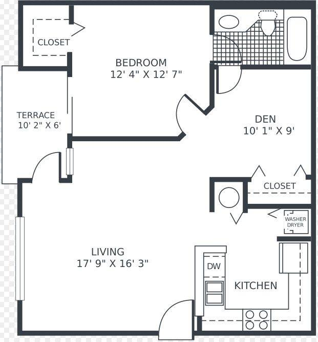 A 2D drawing of the Cedar floorplan