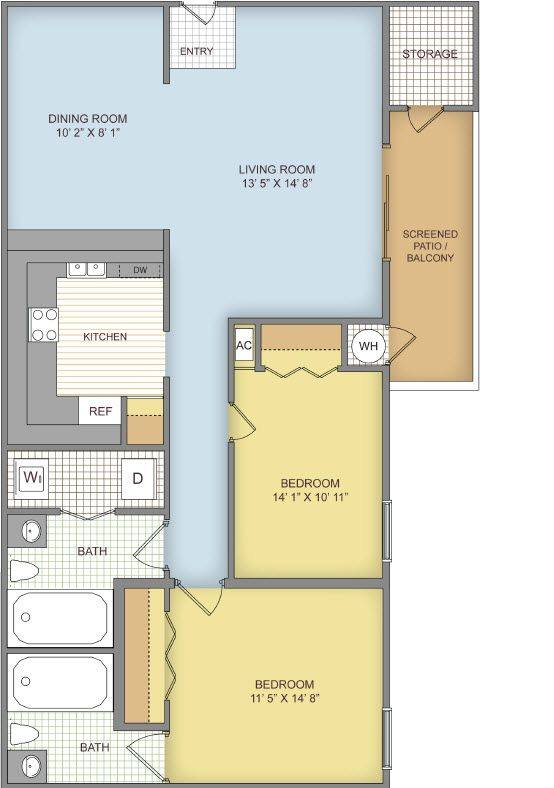A 2D drawing of the The Belmont floor plan
