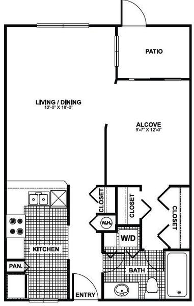 A 2D drawing of the Heron floor plan