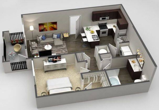 A 2D drawing of the Azul Deluxe floor plan