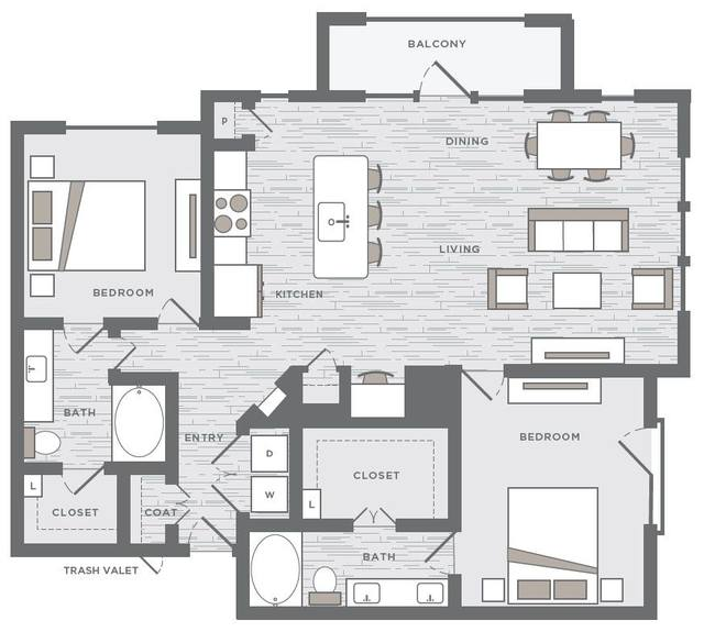 A 2D drawing of the B5a floor plan