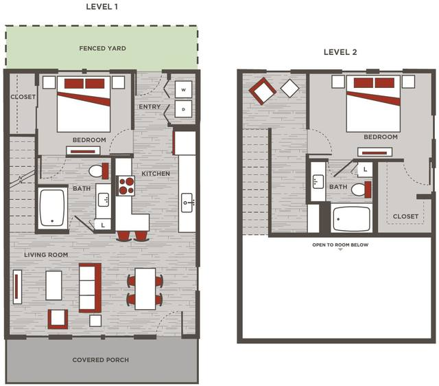 A 2D drawing of the TH1 floor plan