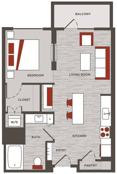A 2D drawing of the E.4 floor plan