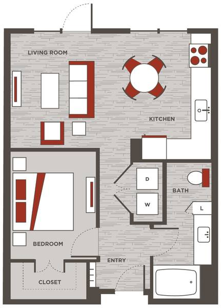 A 2D drawing of the LW floor plan