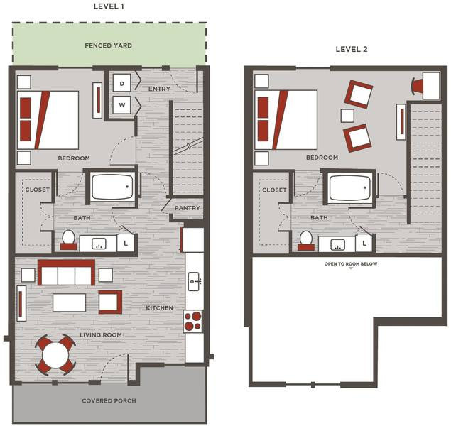 A 2D drawing of the TH2 floor plan