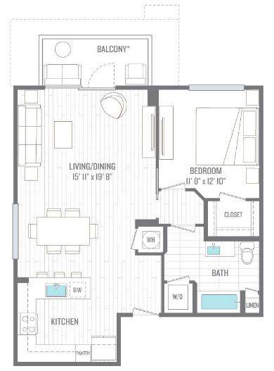A 2D drawing of the A4 floor plan