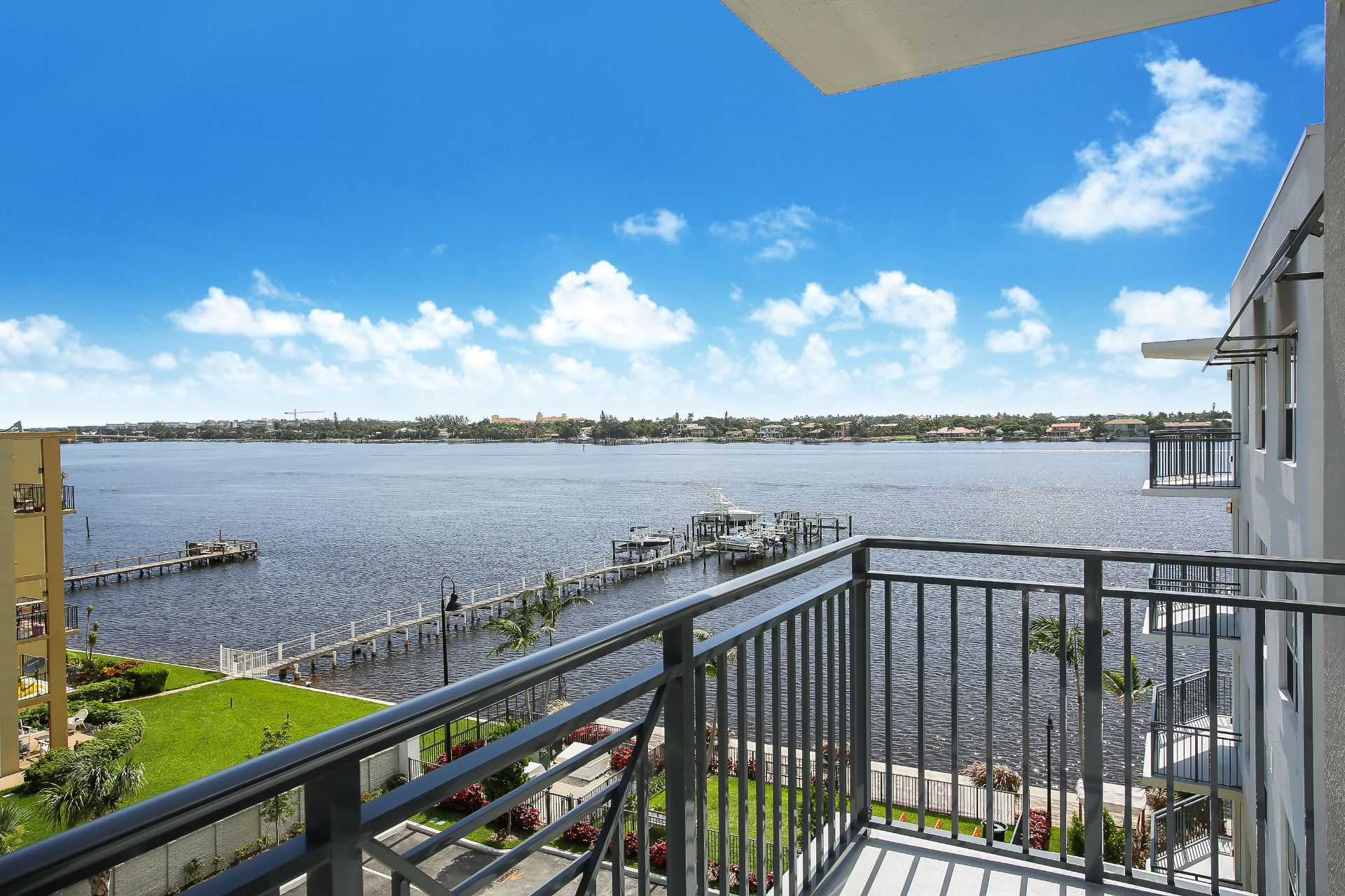View of waterway from balcony