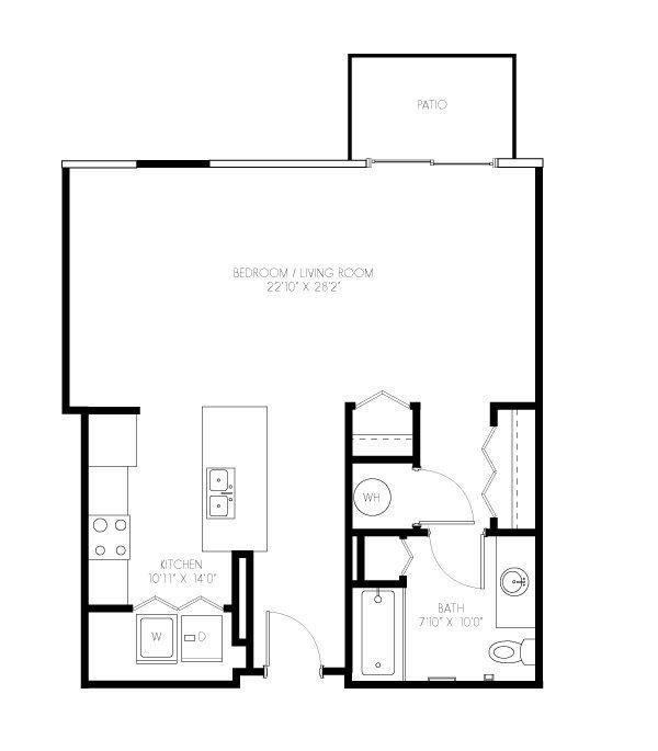 A 2D drawing of the Clyde floor plan