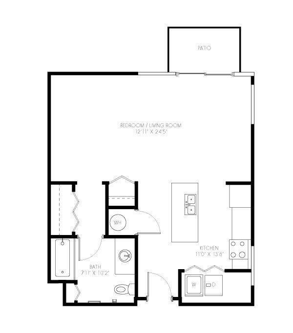 A 2D drawing of the Charles floor plan
