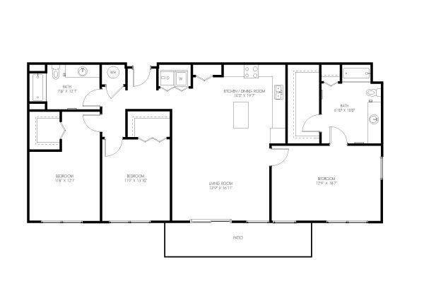 A 2D drawing of the Williams floor plan