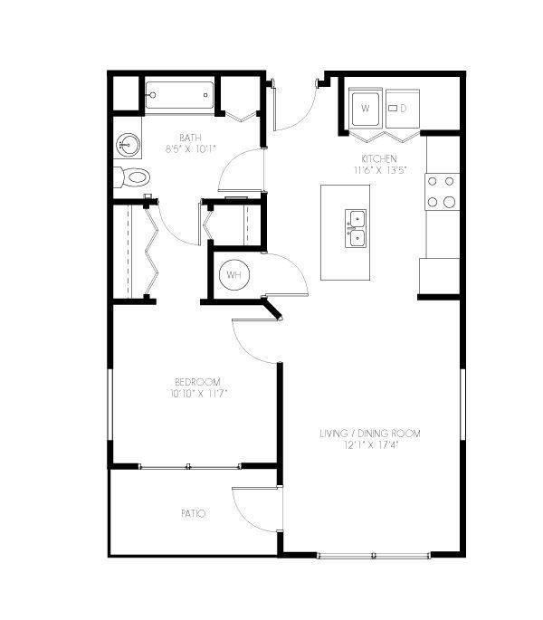 A 2D drawing of the Doggett floor plan
