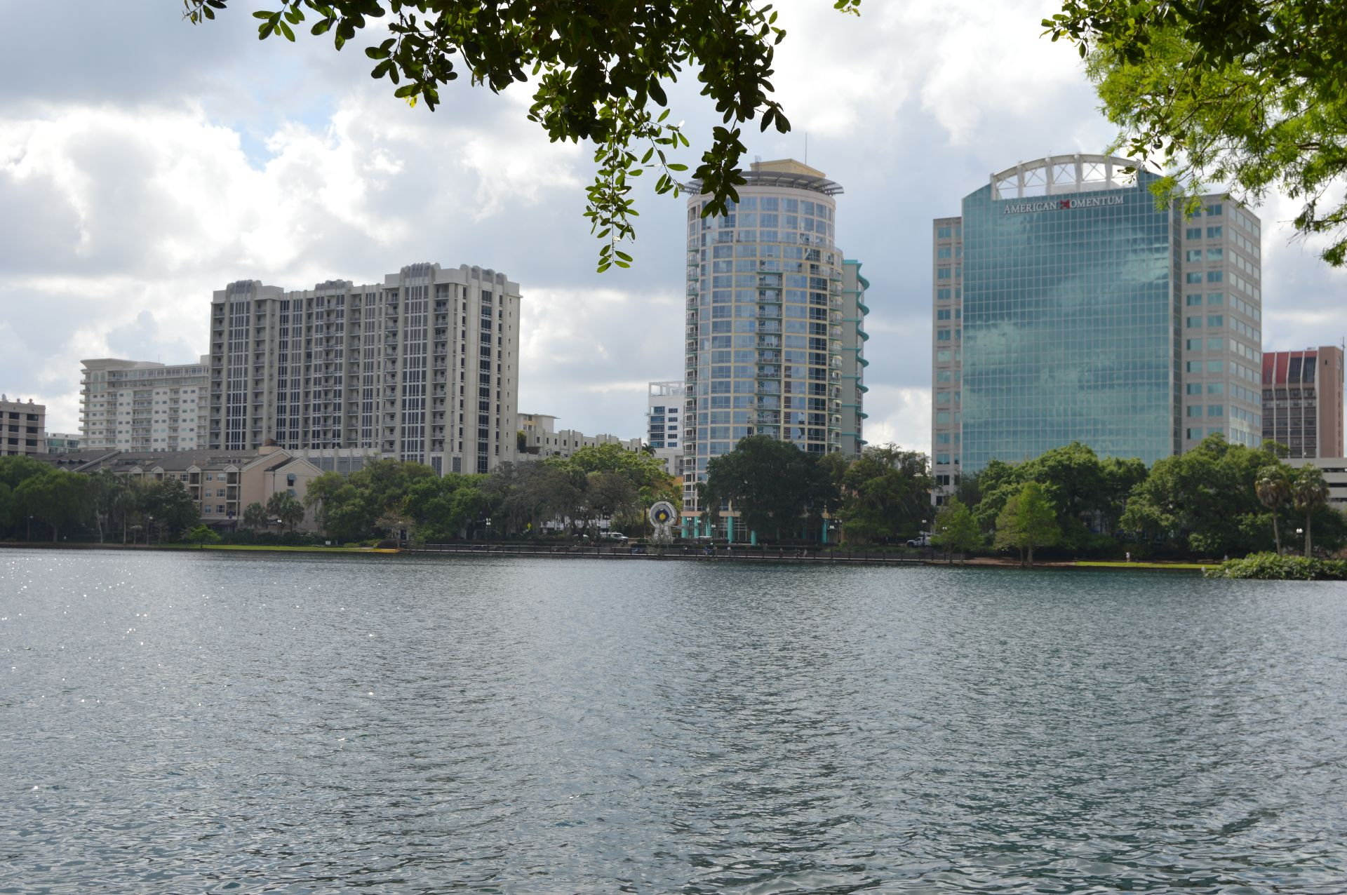 View of buildings from across a river