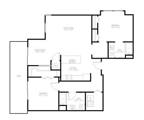 Floorplan Hurston layout