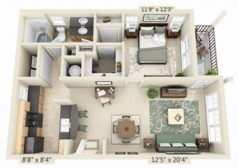 Floorplan Santa Barbara layout