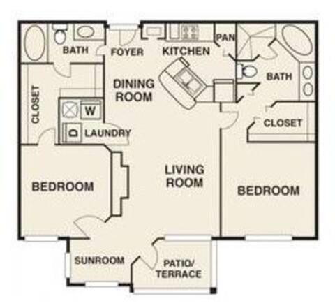 Floorplan Crosby Renovated layout