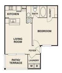 A 2D drawing of the Meredith Renovated floor plan