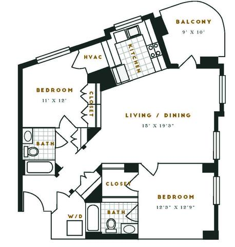 Floorplan J1R layout