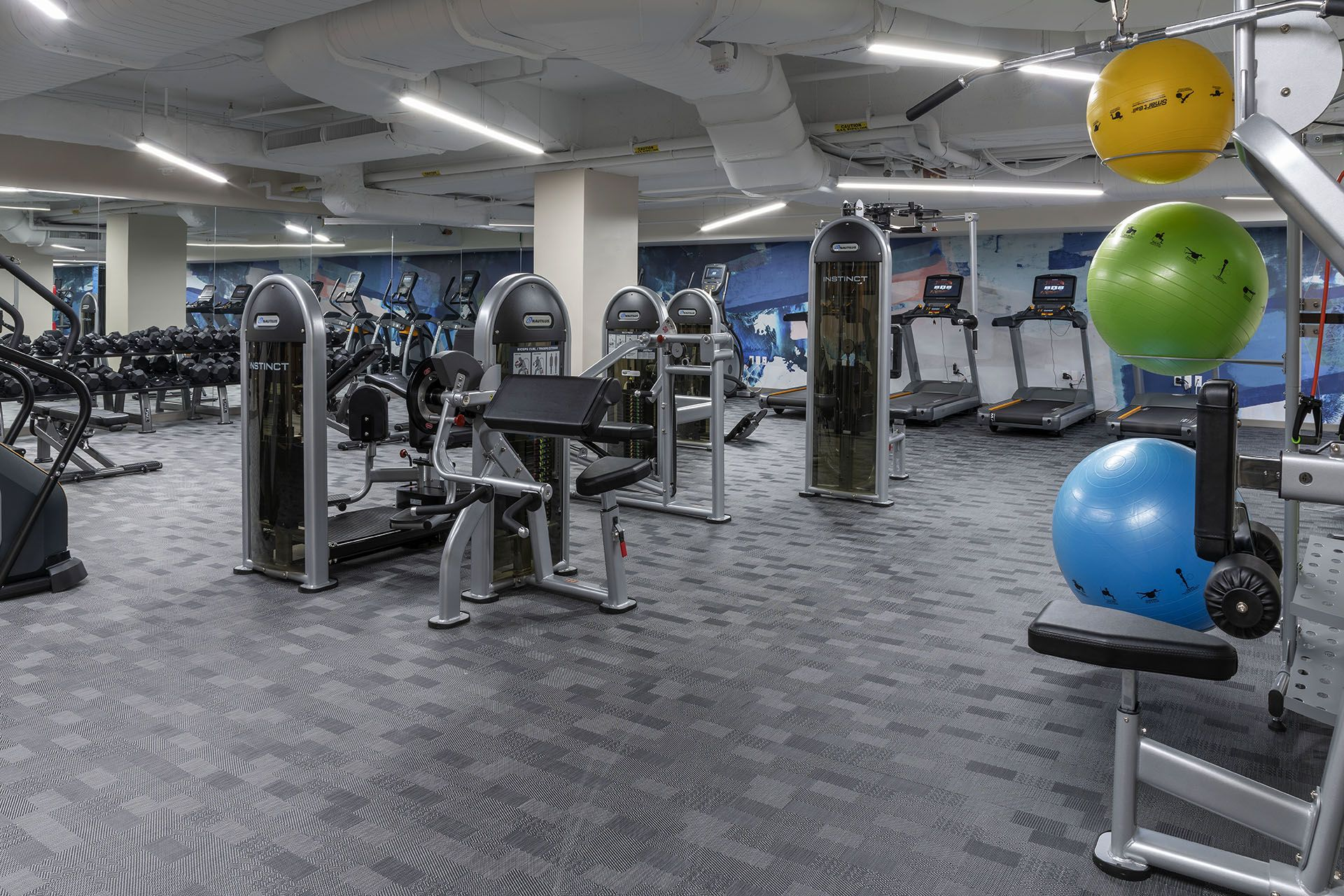 workout equipment in fitness center