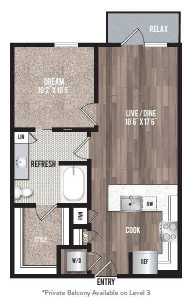 A 2D drawing of the A1.2 floor plan