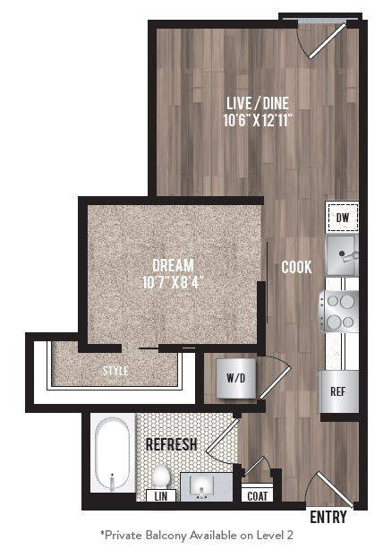 A 2D drawing of the A0.5 floor plan