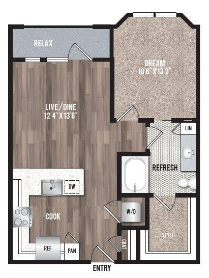 A 2D drawing of the A1.5 floor plan