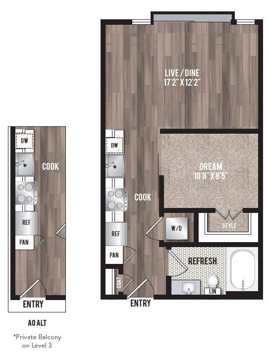 A 2D drawing of the A0.2 floor plan
