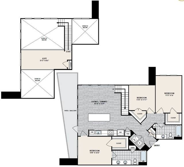 A 2D drawing of the C3 floor plan