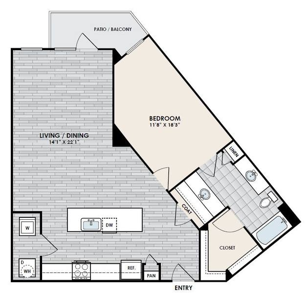 A 2D drawing of the A3-1 floor plan