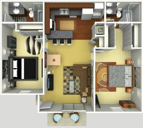 Floorplan Tuscany Renovated layout