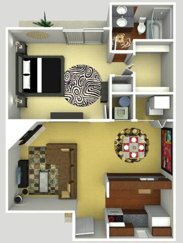 Floorplan Carolina Renovated layout