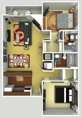 Floorplan Grande Renovated layout