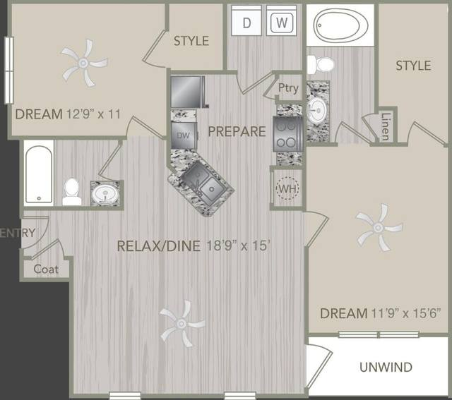 A 2D drawing of the B1L floor plan