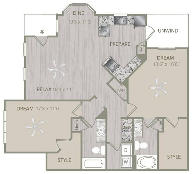A 2D drawing of the B2L floor plan