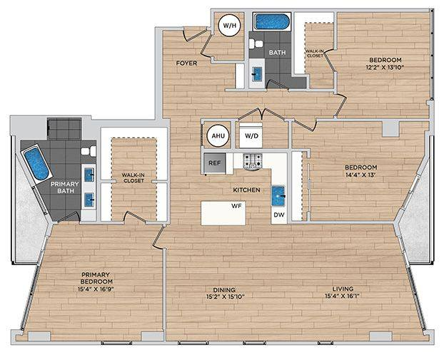 A 2D drawing of the C3.1a floor plan