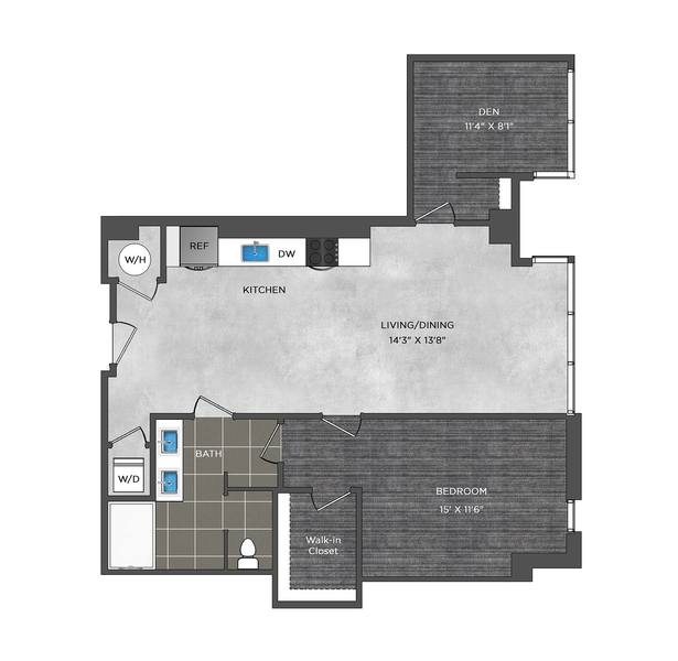 A 2D drawing of the LB1.2 floor plan
