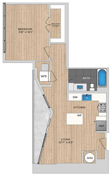 A 2D drawing of the A4.1 floor plan