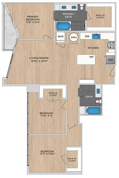 A 2D drawing of the C1.1a floor plan
