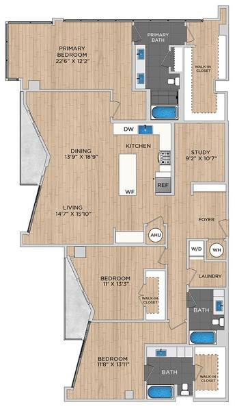 A 2D drawing of the C5.1 floor plan